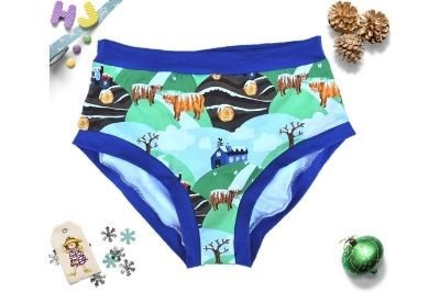 Click to order XXL Briefs Winter Highland Cows now